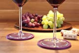 Dark Purple Drink Coasters by Barvivo Set of 8 - Tabletop Protection For Any Table Type, Wood, Granite, Glass, Soapstone, Marble, Stone Tables - Perfect Soft Coaster Fits Any Size of Drinking Glasses