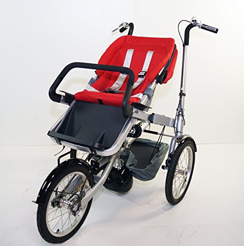 Red Family Stroller Bike for Children 6 Months to 5 Years of Age MCB-01S ALU by USA-MEGASTORE (Image #7)