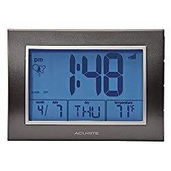 AcuRite 13131 Atomic Alarm Clock with Date, Day of Week and Temperature