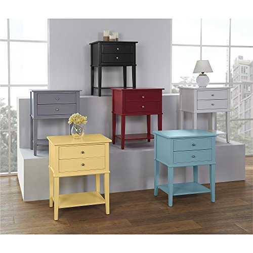 Ameriwood Home 5062496COM Franklin Accent Table 2 Drawers, Yellow by Ameriwood Home (Image #8)