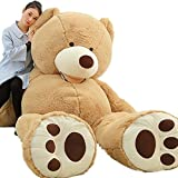 78''GIANT HUGE BIG NO FILLER ANIMAL BROWN TEDDY BEAR PLUSH SOFT TOY 200CM