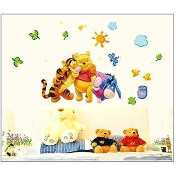 Amazon.com: Winnie the Pooh & Tiger on the Tree Peel & Stick Nursery ...