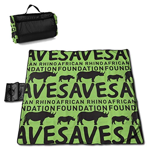 Rojia Save African Rhino Foundation Picnic Mat 57 * 59in One ()