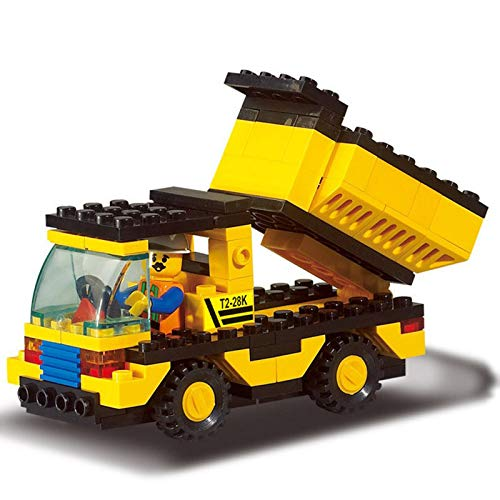 - Sarah Store Model Building Kits - 93pcs/Set DIY Construction Vehicles Truck Assemble Building Blocks Bricks Kits Children Puzzle Educational Toys Kids Gifts
