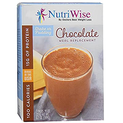 NutriWise - Chocolate Meal Replacement Diet Shake, 100 Calories, 15g Protein