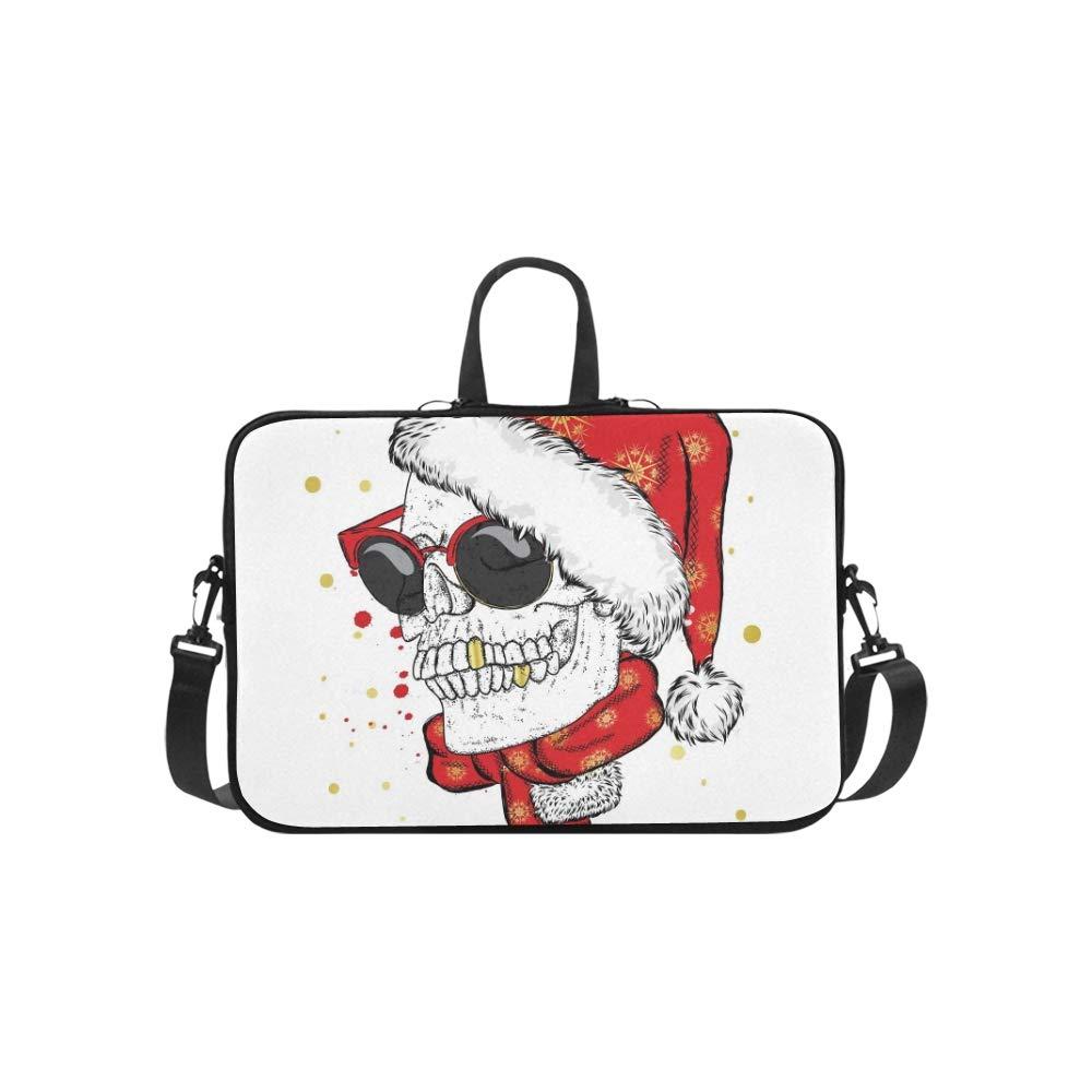 Skull Glasses Bufanda Sombrero de Navidad Vector patrón Maletín Messenger Portátil Bolso Messenger Maletín Hombro Bolsa de Trabajo Bolso Bandolera para Viajes de Negocios cf4efe