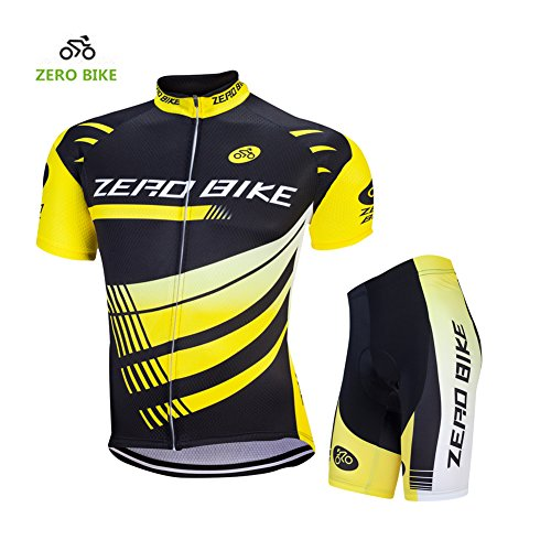 3a5b9dd53 ZEROBIKE Men Breathable Quick Dry Comfortable Short Sleeve Jersey + Padded  Shorts Cycling Clothing Set Cycling Wear Clothes