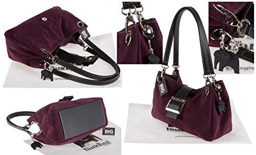 'Pixie' épaule Bords Trim Purple suède sac LIATALIA noirs Violet italien main Petit brown Seconds porté Z à en j103 HwHqzSX
