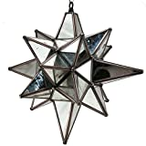 Star of Bethlehem. Moravian Star, Antique Mirror, Bronze Frame, 15x18