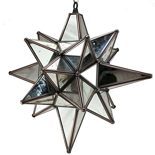 Star of Bethlehem. Moravian Star, Antique Mirror, Bronze Frame, 15x18 by DuDa Home Decor