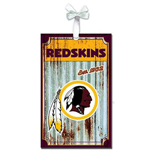 Team Sports America Washington Redskins Corrugated Metal Ornament]()