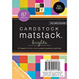 Die Cuts DCWV Cardstock Stack, Match Makers Brights, 87 Sheets, 4-1/2 x 6-1/2 inches