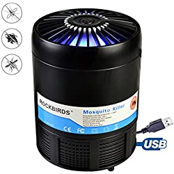 RockBirds Mosquito Trap USB Powered Bug Zapper, Non-toxic UV LED Bug Zapper,Safe and Effective Indoor Electronic Mosquito Light Trap Lamp for Kids and Babies.