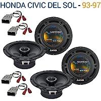 Honda Civic Del Sol 1993-1997 OEM Speaker Upgrade Harmony (2) R65 Package New