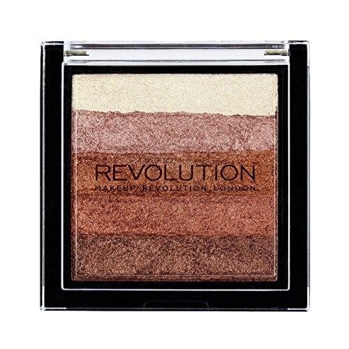 Makeup Revolution Vivid Shimmer Brick Bronzer Highlighter, Rose Gold