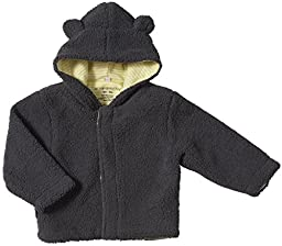 Magnificent Baby Unisex-Baby Infant Fleece Bear Jacket, Ash/Lemon, 6-12 Months