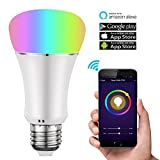 Cheap Cleno House Smart LED Bulb, Wi-Fi Light, Multicolored LED Bulbs, LED Dimmable 60W Equivalent(9W), Smartphone Controlled Daylight & Night Light, Home Lighting Works with Amazon Alexa(1 Pack)