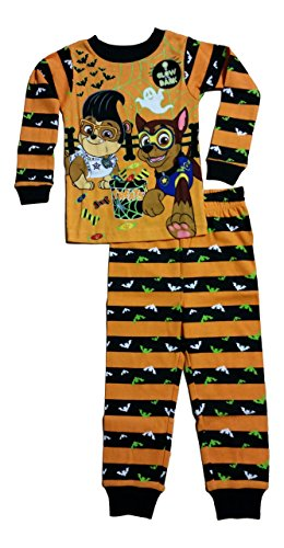 Paw Patrol Little Boys Toddler Halloween Glow In the Dark Long Sleeve Pajama Set (5T)