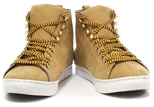 Grinders Max Mujeres Lace Up Zapatos Yellow Cow Nubuck