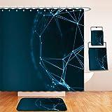 Beshowereb Bath Suit: Showercurtain Bathrug Bathtowel Handtowel futuristic virtual technology background fiber virtual optic cables fibre connection 461344360