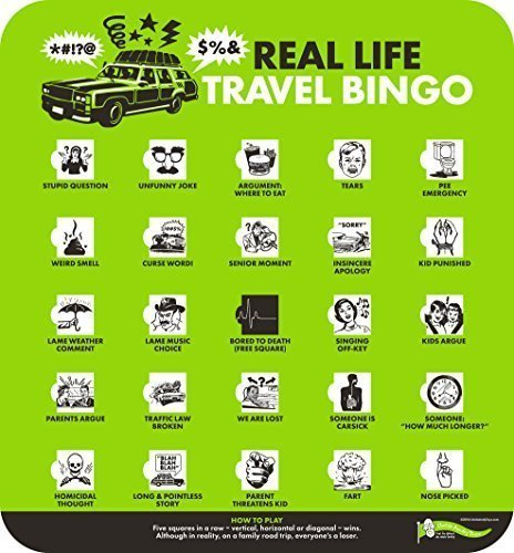 - Real Life Travel Bingo-- Finally, a travel game for REAL families!