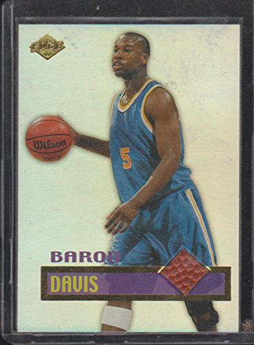 Baron Davis Warriors (1999 Edge Baron Davis Warriors Game Used Ball Insert Basketball Card #BD)