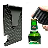 Novadeal Mini Slim Carbon Fiber Money Clip Wallet