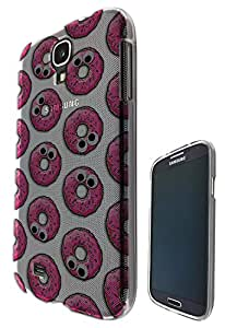 c0311 - Cool fun Cute donut illustration candy bakery food love collage trend blogger kawaii Design Samsung Galaxy S4 i9500 Fashion Trend CASE Gel Rubber Silicone All Edges Protection Case Cover