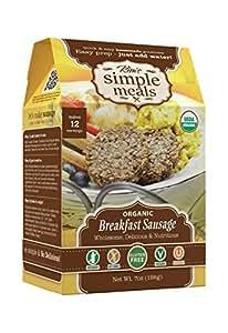Kim's Simple Meals Vegetarian Breakfast Sausage Mix, Organic, Gluten Free, Vegan, Non GMO, Kosher, 7 oz Box, Pack of 6