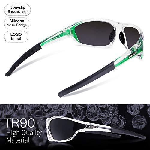 course lunettes Queshark Lunettes cyclisme UV400 conduite femmes de de pêche Vert pour Cristal soleil polarisées hommes r7RHrv
