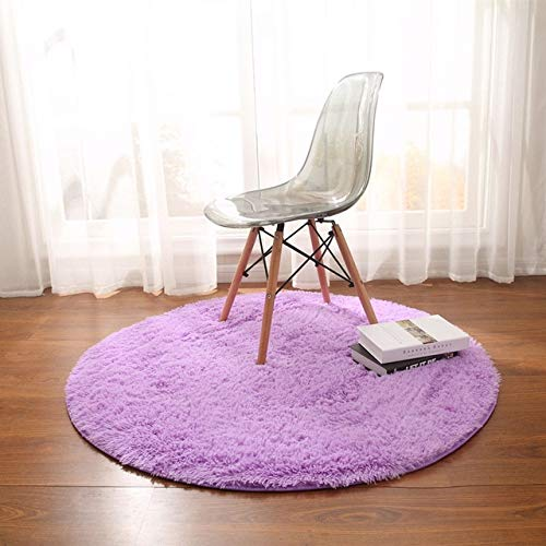 EOFK Nordic Color Soft Plush Kids Carpet Round Rugs Children Play Mats Crawling Games Mat with Bedroom Or for Room Decoration Gift Teen Must Haves Friendship Gifts My Favourite Superhero Dream