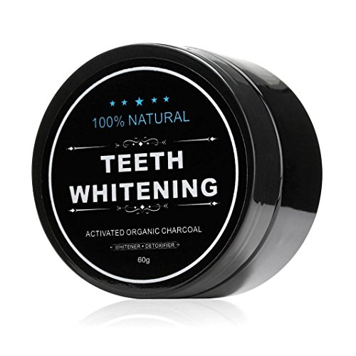Price comparison product image Teeth Whitening Charcoal Powder, FirstFly Natural Activated Charcoal Powder Teeth Whitener of Organic Coconut Shells (Black-2.2oz)