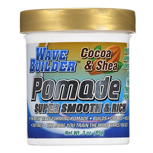 (WaveBuilder Cocoa & Shea Pomade | Super Smooth & Rich Formula Promotes Healthy Hair Waves, 3 Oz )