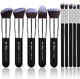Concealer Makeup Brush BS-MALL(TM) Makeup Brushes Premium Makeup Brush Set Synthetic Kabuki Makeup Brush Set Cosmetics Foundation Blending Blush Eyeliner Face Powder Lip Brush Makeup Brush Kit(10pcs, Silver Black)