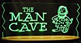 Man Cave Bar Sign Cave Man Acrylic Lighted Edge Lit Awesome 21'' LED Sign Light Up Plaque Made in the USA