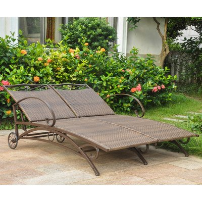 Double Chaise Lounge (Antique Brown)