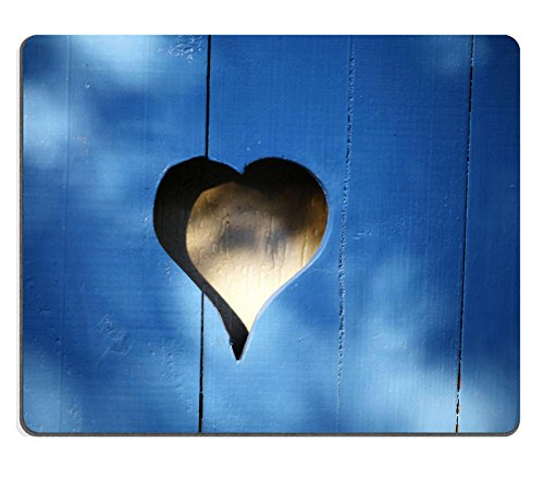 MSD Mousepad Color picture of a heart shaped hole in a some wood planks Image 33011290 Customized Tablemats Stain Resistance Collector Kit Kitchen Table Top DeskDrink Customized Stain Re Wood Plank Tabletop