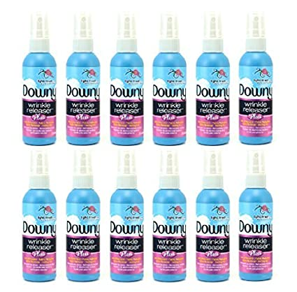 Downy Wrinkle Release Spray Plus, Static Remover, Odor Eliminator, Fabric Refresher and Ironing Aid, Light Fresh Scent, 3 Fluid Ounce (Pack Of 12 Travel Bottles) Nehemiah Manufacturing No Model