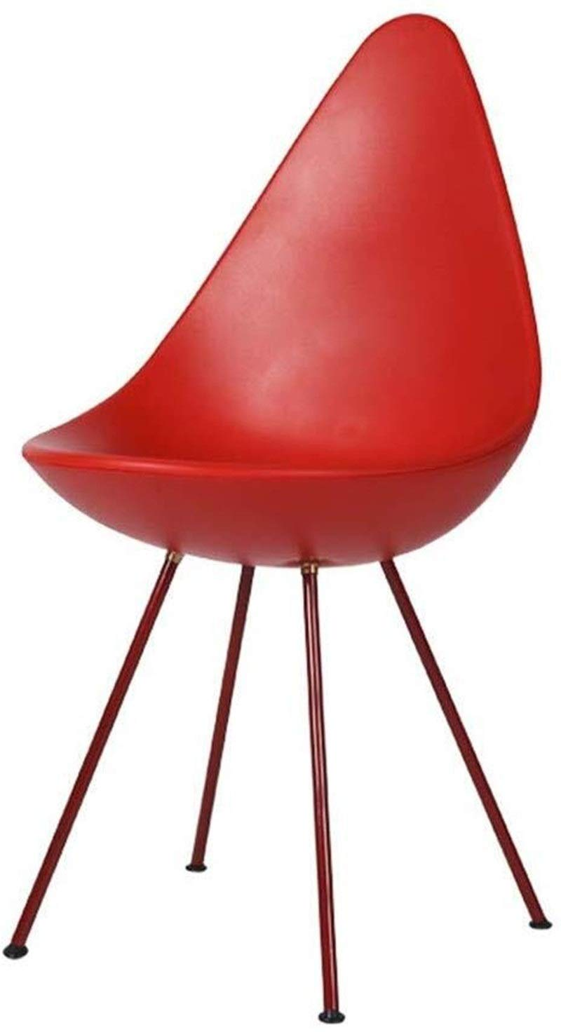 CHU N Pub Chair, PP Plastic Soup Spoon Chair Office Lounge Kitchen Dining Chair 90x36x38 cm 929 (Size : Red) by CHU N