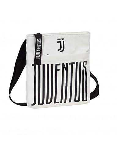 503047791f Borsa Tracolla Juventus Marsupio Collezione 2018 Colore Bianco o Nero 28 X  23 X 5: Amazon.it: Scarpe e borse