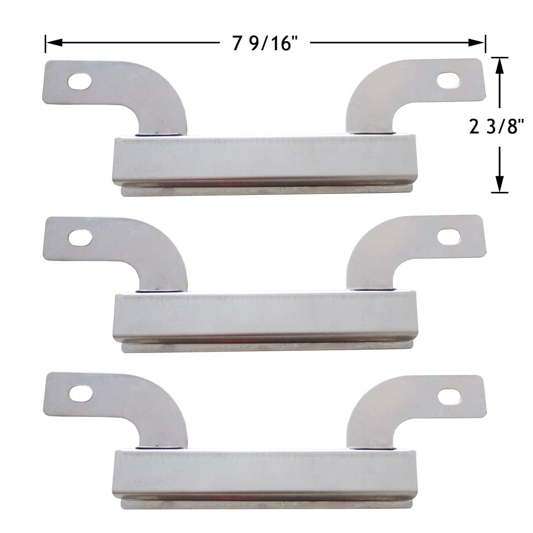 YIHAM KC637 BBQ Grill Stainless Steel Crossover Carryover Burner Tube Channel Replacement Parts for Select Models by Brinkmann, Charmglow Gas Grills, Set of 3