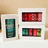 Autumn Water 5-6 Rolls/Set Washi Tape Christmas Series Packed by White Box