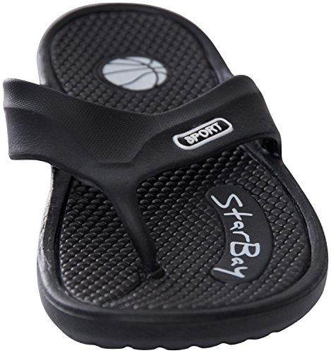 Starbay Flip Flop Comfortabele Sandalen Voor Heren Zwart Maat 12