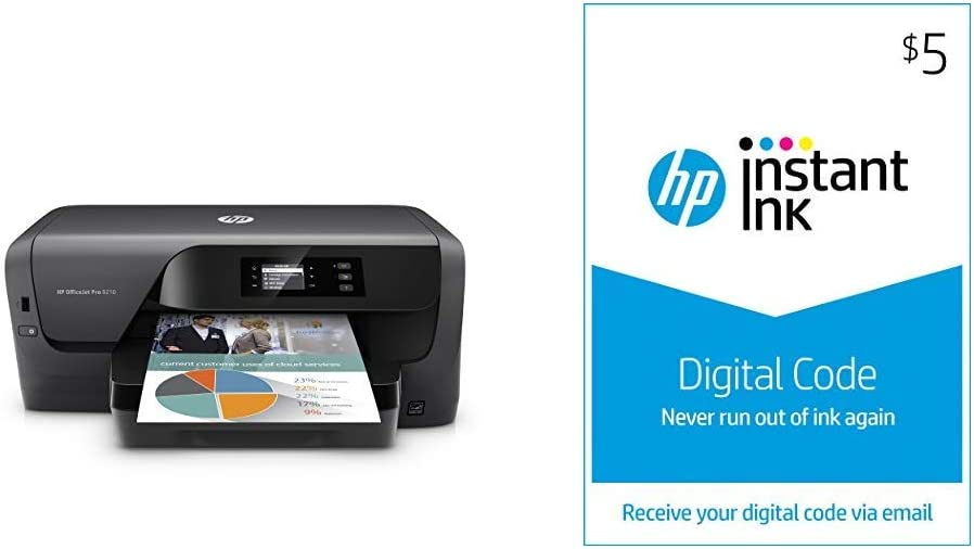 HP OfficeJet Pro 8210 Wireless Color Printer (D9L64A) with and Instant Ink $5 Prepaid Code