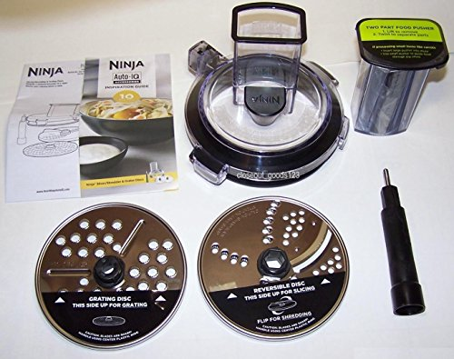 Feed Chute & Grating Slicing Kit for BL491 BL492 BL494 Ninja Auto IQ Compact Blender