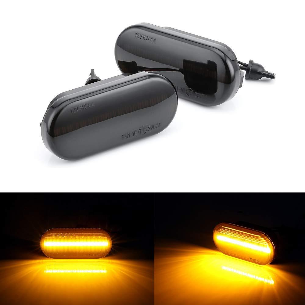 MASO - 2 Luces LED Laterales para Coche con indicador de Flujo de ...