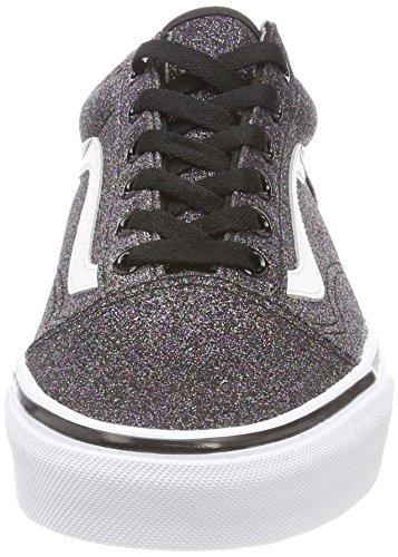 Zapatillas De Deporte Vans Mujeres Glitter Rainbow Black Old Skool