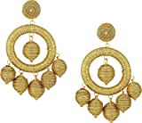 Kenneth Jay Lane Women's Graduated Gold Thread Wrapped Balls Drops w/ Dome Top Post Earrings Gold One Size