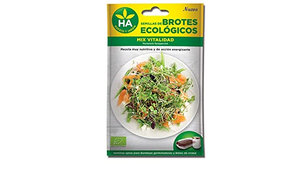 2 SOBRES DE SEMILLAS BROTES ECOLÓGICOS MIX VITA PLUS HA: Amazon.es: Belleza