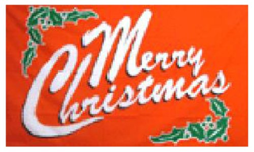 Merry Christmas Holly Flag 5ft x 3ft by Klicnow
